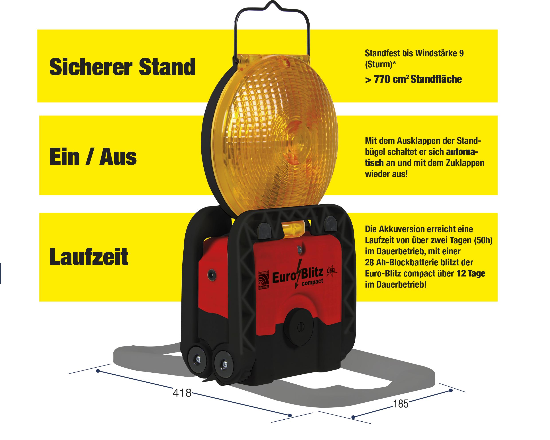Lampes d'avertissement LED EuroBlitz Compact