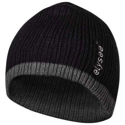 Bonnet FELDTMANN, Thinsulate, noir/gris