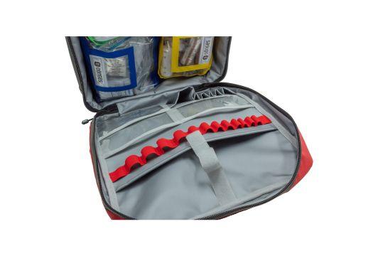 Sac à dos de secours pour sapeurs-pompiers, avec poches intérieures et contenu selon DIN 14142