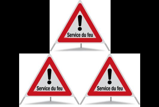 Signal pliant Triopan Service du feu