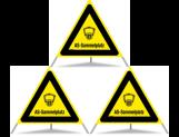 Triopan Faltsignal Atemschutz Sammelplatz gelb