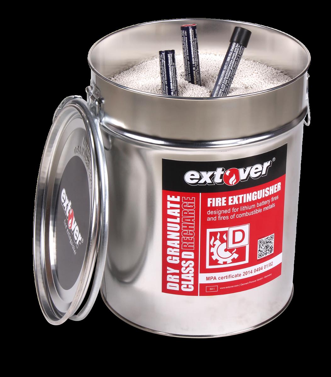 Extover® Feuerlöschgranulat 30 Liter Blecheimer