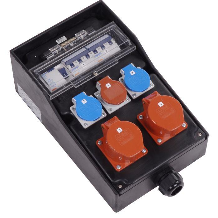 Hartgummi-Steckdosenverteiler 400 V