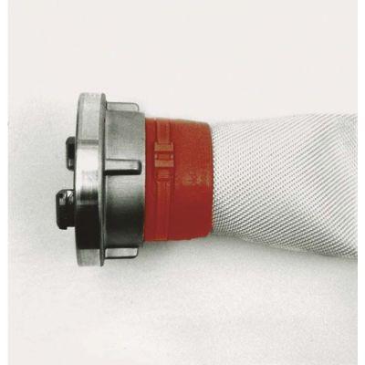 Storzkupplungen mit Drahteinband und Schutzhülsen eingebunden