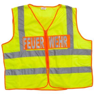 Gilet de sécurité pour sapeurs-pompiers, jaune fluo