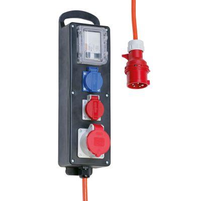 Distributeur En Caoutchouc Dur Avec Prises Et Disjoncteur Fi 400 Volts