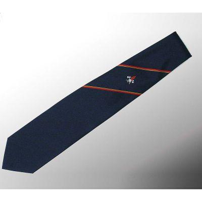 Krawatte Typ Feuerwehr Mit Feuerwehr-Abzeichen Und 2 Rot-Gelben Streifen