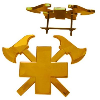 3D-Autokreuz Gold