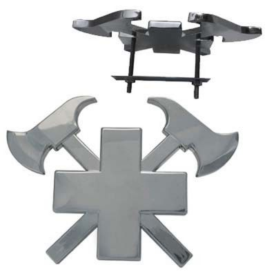 3D-Autokreuz Silber