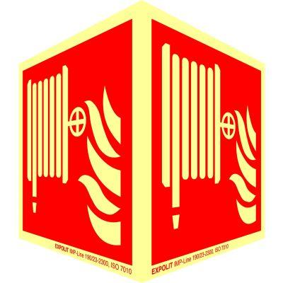 Panneau angulaire:Poste d'incendie 7010