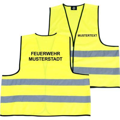 Veste de Fonction Et de Signalisation, Incl. Étiquette À La Taille Et Au dos Impression 2 Lignes