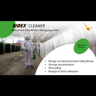 BIOEX Cleaner 1% - Produit de nettoyage universel pour surfaces